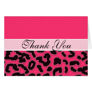 Chic Hot Pink Leopard Animal Print Card