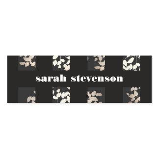 Chic Interior Design Elegant Leaves Black Modern Pack Of Skinny Business Cards