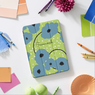 CHIC IPAD PRO COVER_MOD BLUE POPPIES