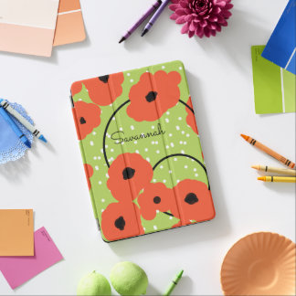 CHIC IPAD PRO COVER_MOD FLAME ORANGE  POPPIES