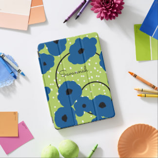 CHIC IPAD PRO COVER_MOD LAPIS BLUE POPPIES