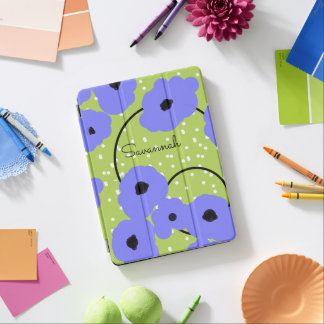 CHIC IPAD PRO COVER_MOD PERIWINKLE  POPPIES