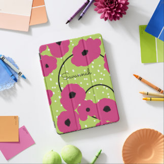 CHIC IPAD PRO COVER_MOD PINK YARROW POPPIES