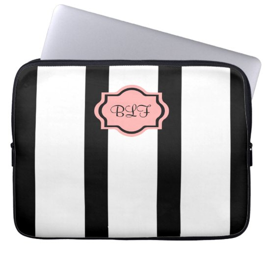 CHIC IPAD SLEEVE_04 BLUSH PINK/WHITE/BLACK LAPTOP SLEEVE