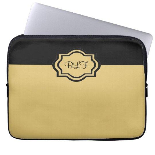 chic ipad sleeve, kakki/with monogram laptop sleeve