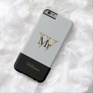 """CHIC IPHONE6 CASE_""""MR"""" SILVER/GOLD/BLACK BARELY THERE iPhone 6 CASE"""