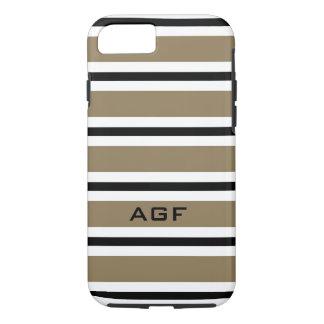 CHIC iPhone7 CASE_620 CAMEL/BLACK/WHITE STRIPES #2 iPhone 7 Case