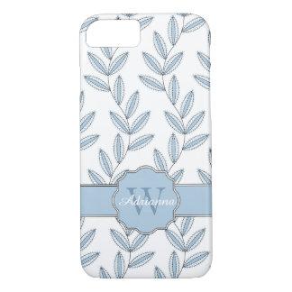 CHIC IPHONE7 CASE_PRETTY BLUE FLORAL VINES iPhone 7 CASE