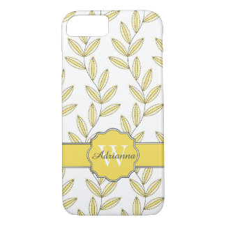 CHIC IPHONE7 CASE_PRETTY BUTTER FLORAL VINES iPhone 7 CASE