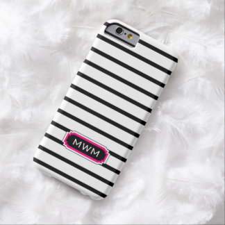 CHIC IPHONE 6 CASE_BLACK/WHITE/HOT PINK BARELY THERE iPhone 6 CASE
