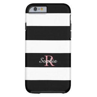 CHIC IPHONE 6 CASE_BLACK/WHITE STRIPES TOUGH iPhone 6 CASE