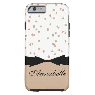 CHIC IPHONE 6 CASE_GIRLY HAZELNUT DOTS TOUGH iPhone 6 CASE