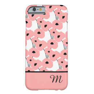 CHIC IPHONE 6 CASE_MOD 04 BLUSH PINK POPPIES BARELY THERE iPhone 6 CASE