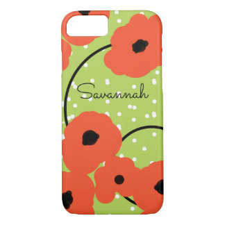 CHIC IPHONE 6 CASE_MOD SOFT FLAME ORANGE POPPIES iPhone 8/7 CASE