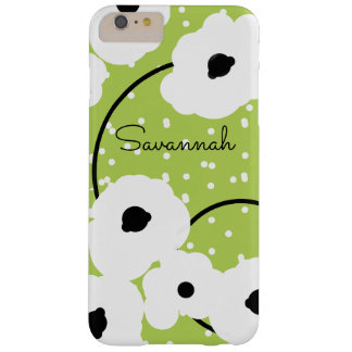 CHIC IPHONE 6 CASE_MOD WHITE AND BLACK POPPIES BARELY THERE iPhone 6 PLUS CASE