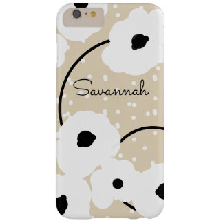 CHIC IPHONE 6 CASE_MOD WHITE & BLACK POPPIES, DIY BARELY THERE iPhone 6 PLUS CASE