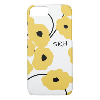 CHIC IPHONE 6 CASE_MOD YELLOW & BLACK POPPIES iPhone 8/7 CASE