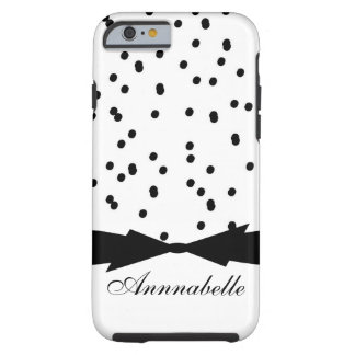 CHIC IPHONE 6_MODERN SPLATTERED DOTS WITH BOW TOUGH iPhone 6 CASE