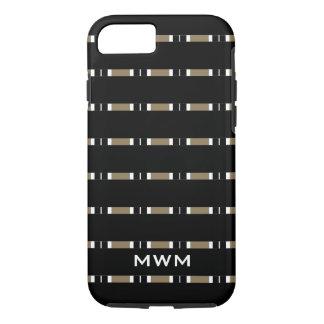 CHIC iPhone 7 CASE_BLACK/CAMEL/WHITE STRIPES iPhone 7 Case