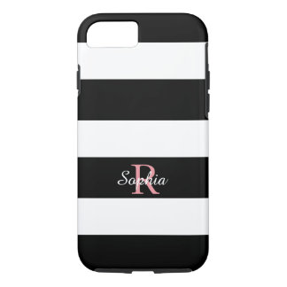 CHIC iPhone 7 CASE_BLACK/WHITE STRIPES iPhone 7 Case