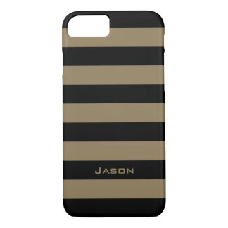CHIC iPhone 7 CASE_CAMEL/BLACK STRIPE #7 iPhone 7 Case