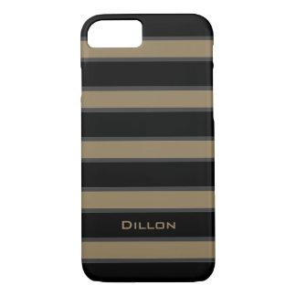 CHIC iPhone 7 CASE_CAMEL/BLACK/WGRAY STRIPES #6 iPhone 7 Case