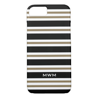 CHIC iPhone 7 CASE_CAMEL/BLACK/WHITE STRIPES #3 iPhone 7 Case