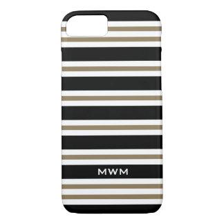CHIC iPhone 7 CASE_CAMEL/BLACK/WHITE STRIPES #3 iPhone 8/7 Case