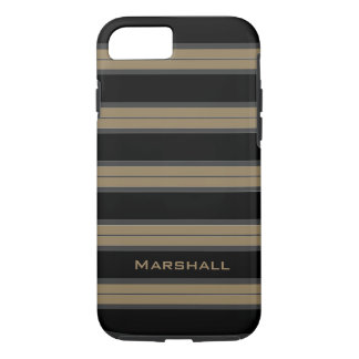 CHIC iPhone 7 CASE_CAMEL/BLACK/WHITE STRIPES #5 iPhone 7 Case