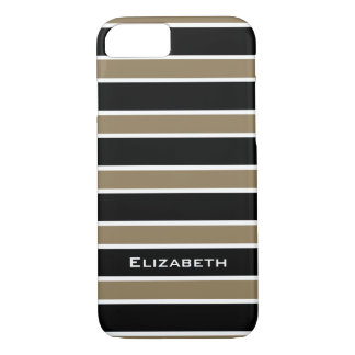 CHIC iPhone 7 CASE_CAMEL/BLACK/WHITE STRIPES #6 iPhone 7 Case