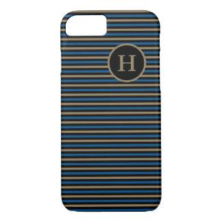 CHIC iPhone 7 CASE_CAMEL/BLUE/BLACK STRIPES iPhone 7 Case