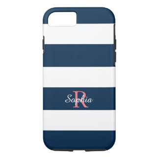 CHIC iPhone 7 CASE_CLASSIC BLUE/WHITE STRIPES iPhone 7 Case