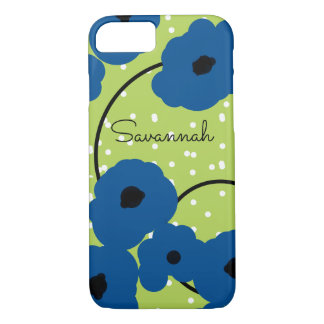 CHIC IPHONE 7 CASE_MOD LAPIS BLUE POPPIES iPhone 8/7 CASE