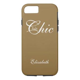 "CHIC iPhone 7 CASE_""tresChic"" CAMEL/WHITE iPhone 7 Case"