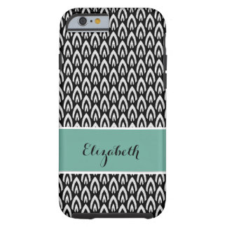 CHIC IPHONE CASE_MODERN FLAME_WHITE ON BLACK TOUGH iPhone 6 CASE