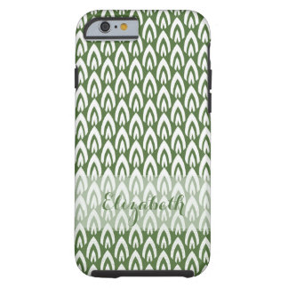 CHIC IPHONE CASE_MODERN FLAME_WHITE ON GREEN TOUGH iPhone 6 CASE