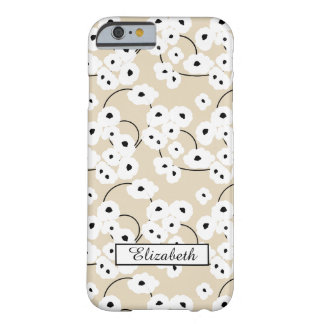 CHIC IPONE 6 CASE_MOD WHITE & BLACK POPPIES_DIY! BARELY THERE iPhone 6 CASE