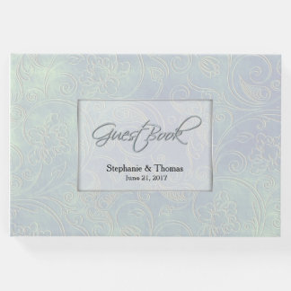 Chic Iridescent Pearl Wedding Guest Book