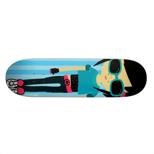 Chic is cool skate board deck