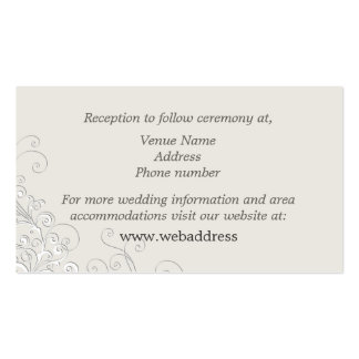 Chic Ivory and White Classic Wedding Enclosure Pack Of Standard Business Cards