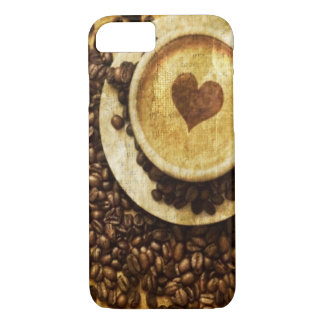 Chic Java cappuccino Coffee Beans Coffee Lover iPhone 8/7 Case
