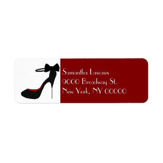 Chic Ladies Stiletto High Heel Custom Return Address Label