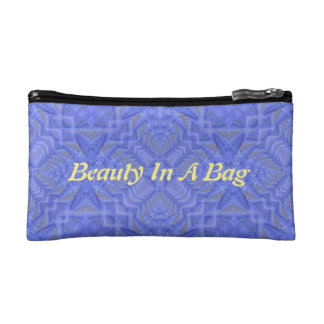 """Chic Lavender """"Date Night Beauty In A Bag"""" Cosmetics Bags"""