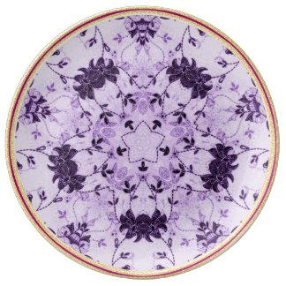 Chic Lavender Flower  Decorative Porcelain Plate