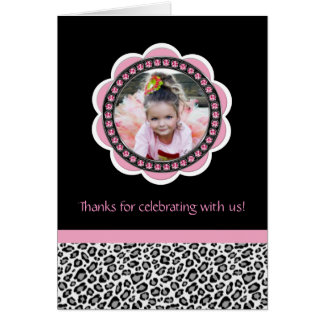 Chic Leopard Birthday Thank You Cards