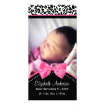 Chic Leopard Print Baby Photo Birth Announcement Personalized Photo Card