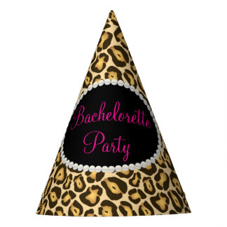 Chic Leopard Print Pearls, Bachelorette Party Hats