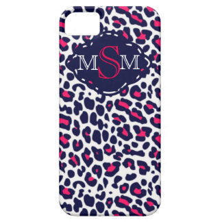 Chic Leopard Print w/Custom 3 letter monogram iPhone 5 Cover