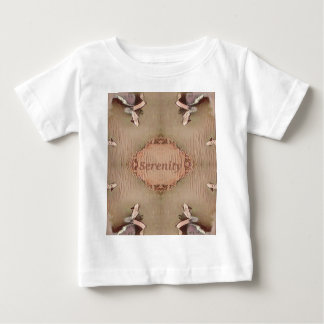Chic Light Tan Peach Modern Serenity Baby T-Shirt