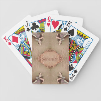 Chic Light Tan Peach Modern Serenity Bicycle Playing Cards